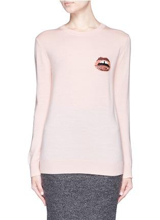 Main View - Click To Enlarge - MARKUS LUPFER - 'Mini Lara Lip' sequin Natalie sweater