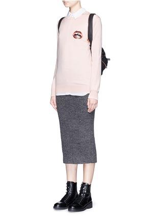 Figure View - Click To Enlarge - MARKUS LUPFER - 'Mini Lara Lip' sequin Natalie sweater