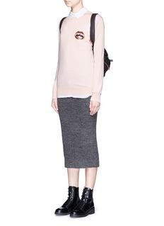 MARKUS LUPFER'Mini Lara Lip' sequin Natalie sweater