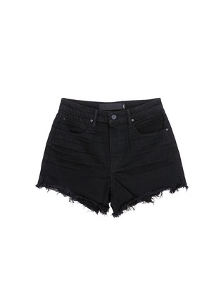 Main View - Click To Enlarge - T By Alexander Wang - 'Bite' frayed cuff denim shorts