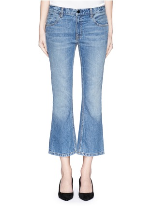 Detail View - Click To Enlarge - T By Alexander Wang - 'Trap' light wash crop flare jeans