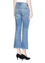 'Trap' light wash crop flare jeans