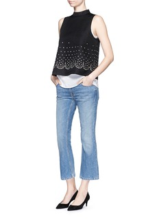 Alexander Wang  'Trap' light wash crop flare jeans