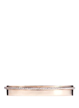 Messika-'Kate' diamond 18k rose gold bangle