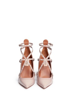 VALENTINO'Love Latch' caged patent leather pumps