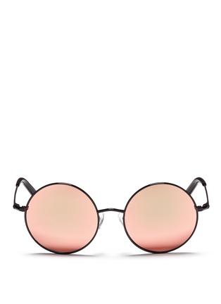 Main View - Click To Enlarge - Matthew Williamson - Metal round mirror sunglasses