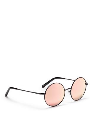 Figure View - Click To Enlarge - Matthew Williamson - Metal round mirror sunglasses