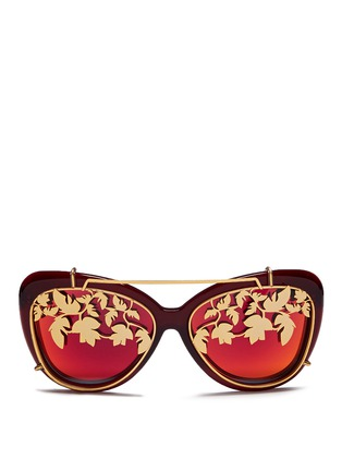 Main View - Click To Enlarge - Matthew Williamson - Leaf cutwork clip-on acetate sunglasses