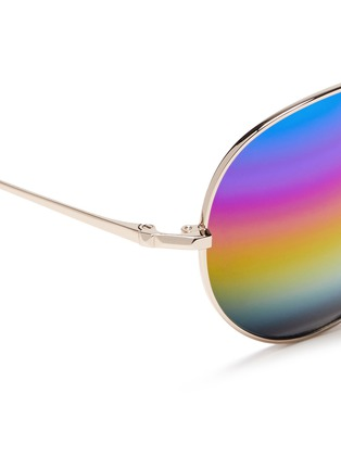 Detail View - Click To Enlarge - Matthew Williamson - Rainbow mirror aviator sunglasses