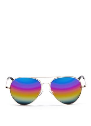 Main View - Click To Enlarge - Matthew Williamson - Rainbow mirror aviator sunglasses