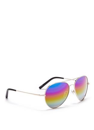 Figure View - Click To Enlarge - Matthew Williamson - Rainbow mirror aviator sunglasses
