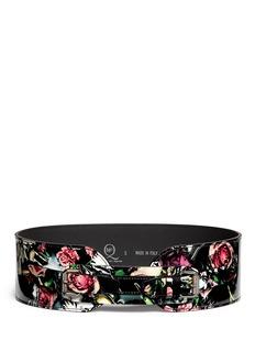 MCQ ALEXANDER MCQUEEN'Festival Floral' print leather belt