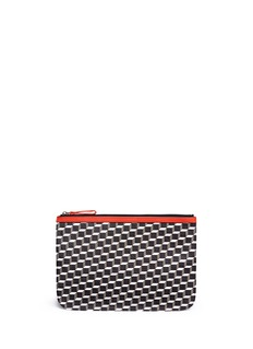 Pierre Hardy 'Perspective Cube' print canvas zip pouch