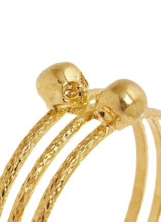 Detail View - Click To Enlarge - Alexander McQueen - Skull embellish triple band bangle