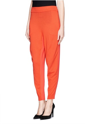 Front View - Click To Enlarge - Stella McCartney - Cady back wool knit jogging pants