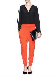 STELLA MCCARTNEY Cady back wool knit jogging pants