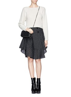 CHLOÉ Perforated wool-angora sweater