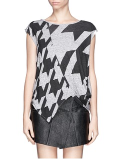 STELLA MCCARTNEY Dogstooth graphic top