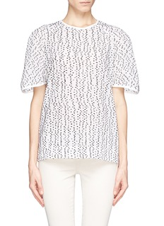 CHLOÉ Wool polka dot semi sheer T-shirt