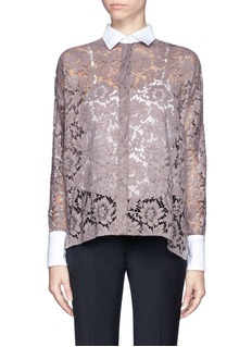 VALENTINO Sheer lace shirt