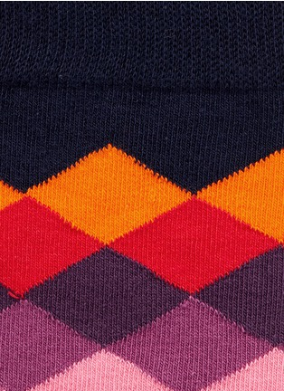 Detail View - Click To Enlarge - Happy Socks - Faded diamond socks