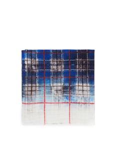 FRANCO FERRARITartan silk and wool double face loop scarf