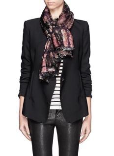 FRANCO FERRARITie dye silk and wool double face loop scarf