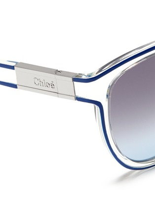 Detail View - Click To Enlarge - Chloé - Plastic cat eye sunglasses
