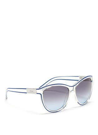 Figure View - Click To Enlarge - Chloé - Plastic cat eye sunglasses