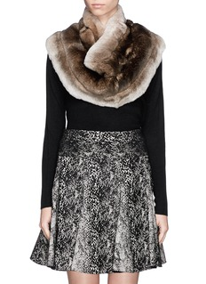 ARMANI COLLEZIONI Rabbit fur shoulder wrap