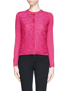VALENTINO Guipure lace front cardigan