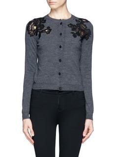 LANVINFloral lace cardigan