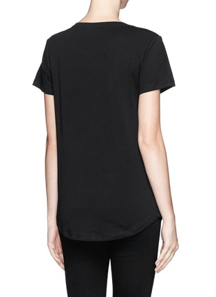 Back View - Click To Enlarge - Emilio Pucci - Jewel and bead cotton T-shirt
