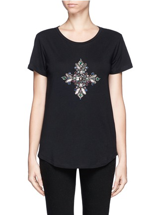 Main View - Click To Enlarge - Emilio Pucci - Jewel and bead cotton T-shirt
