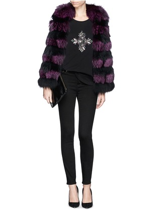 Figure View - Click To Enlarge - Emilio Pucci - Jewel and bead cotton T-shirt