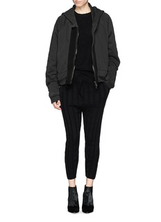 HAIDER ACKERMANN 'Perth' double layer zip-up hoodie
