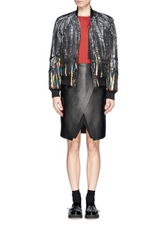 GIVENCHY Sequin print puffer bomber jacket