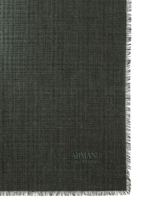 Detail View - Click To Enlarge - Armani Collezioni - Micro houndstooth modal scarf