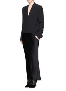 HAIDER ACKERMANNStructured top fishtail dress
