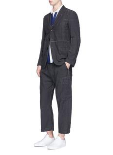 Comme Des Garçons HommePatchwork stitching soft blazer