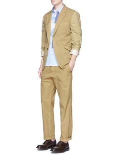 Comme Des Garçons HommeGarment dyed Oxford soft blazer