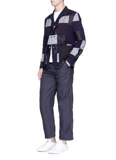 Comme Des Garçons HommePatchwork jersey soft blazer