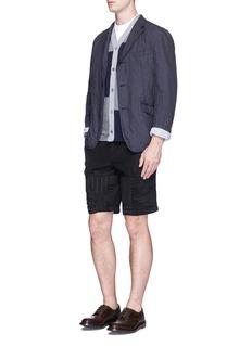 Comme Des Garçons HommePatchwork jersey cardigan