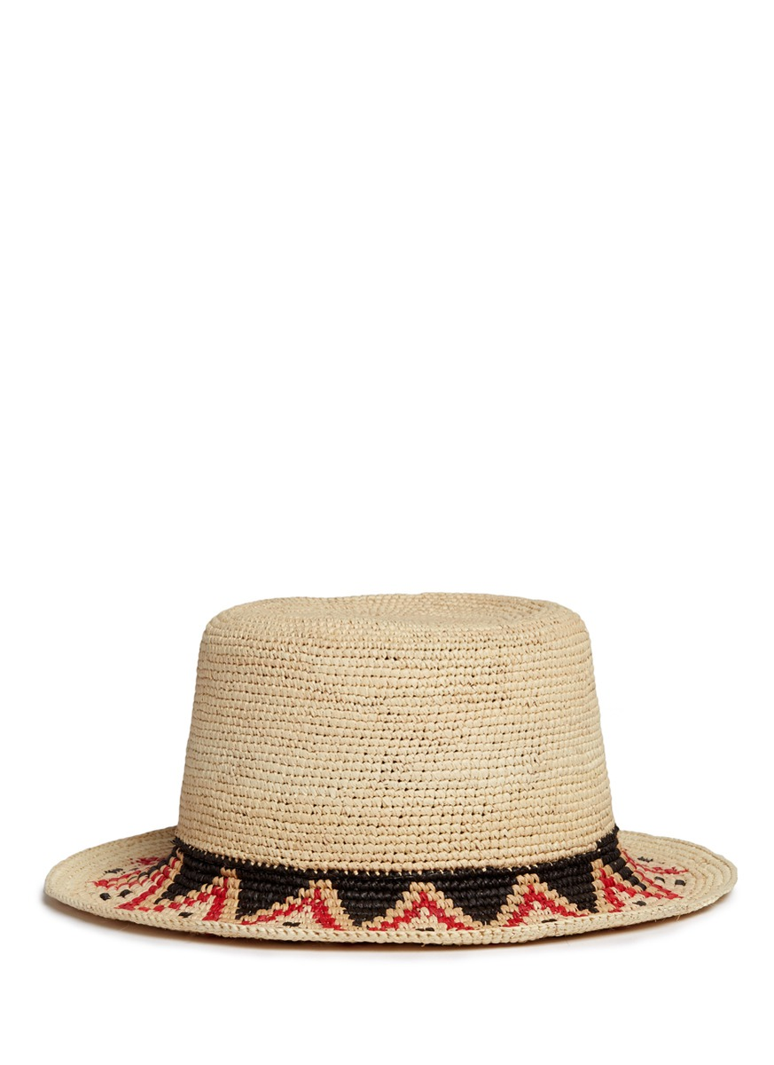 Hippie woven toquilla straw boater hat by Sensi Studio