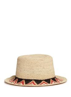 Sensi StudioHippie woven toquilla straw boater hat