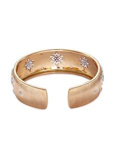 Buccellati Diamond floral 18k gold cuff