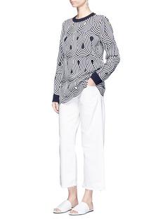 VICTORIA, VICTORIA BECKHAMSwirl stripe cutout sweater