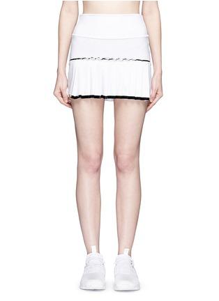 Monreal London-Lasercut pleat foldable waist skirt