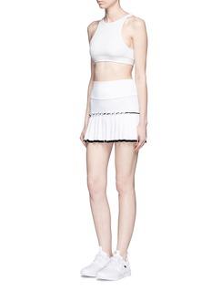 Monreal LondonLasercut pleat foldable waist skirt