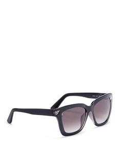 VALENTINO'Rockstud' acetate square sunglasses